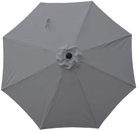 Seasonal Trends Market Umbrella, Aluminum Gray Skies,9 ft