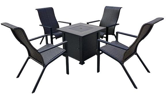 Seasonal Trends Sierra chat Set W/Fire Table, 5 pc