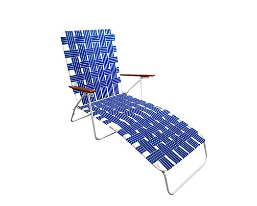 Seasonal Trends Folding Web Lounge Chair - Blue