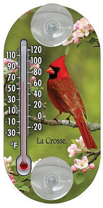 "La Crosse 204-104 Cardinal Thermometer, 4"" Analog"
