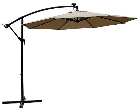 Seasonal Trends Solar Offset Taupe Umbrella