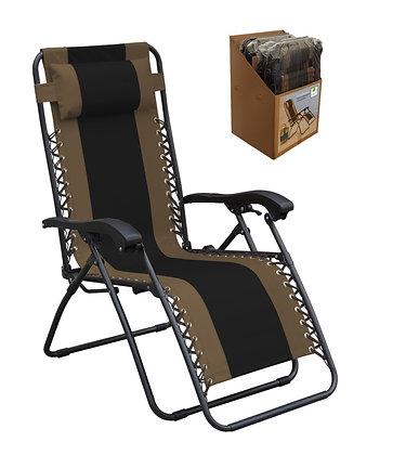 Seasonal Trends Gravity Relaxing Chair, Black/Tan Frame