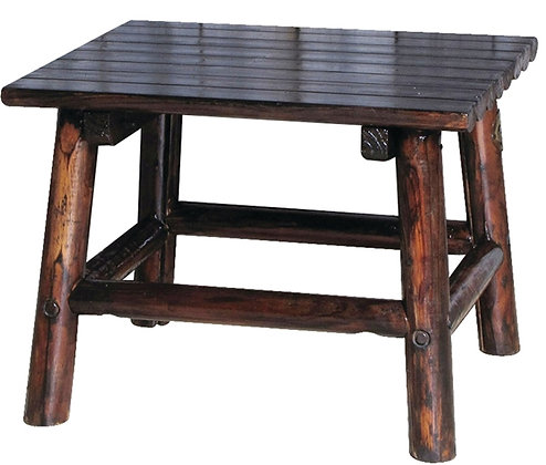 Leigh Country Traditional Charred Wood End Table