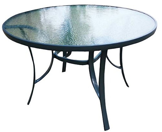 Seasonal Trends Round Glass Top Table, 40 in