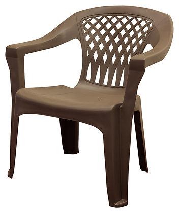 Adams Big Easy Stack Chair, Earth Brown