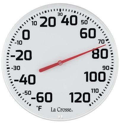 La Crosse 104-1522-TBP Round Thermometer, 8-1/2 in