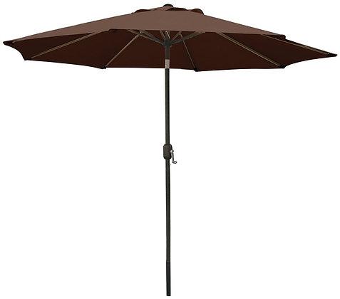 Seasonal Trends Crank Umbrella, 9' W, Chocolate