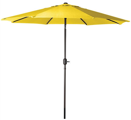 Seasonal Trends Crank Umbrella, 9' W, Yellow