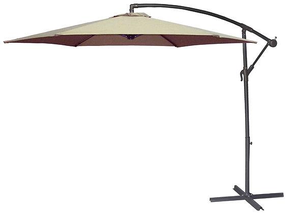 Seasonal Trends Offset Taupe Umbrella
