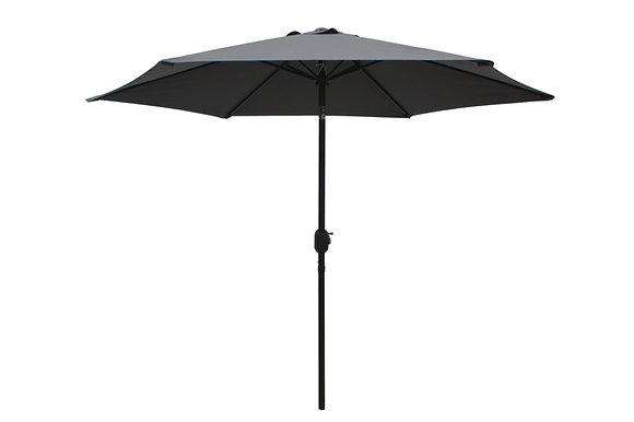 Seasonal Trends 9 Ft Tilt/Crank Market Umbrella, Grey