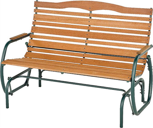 Jack Post Double Glider Bench, Natural Wood