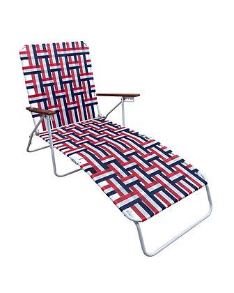 Seasonal Trends Folding Web Lounge Chair - Red