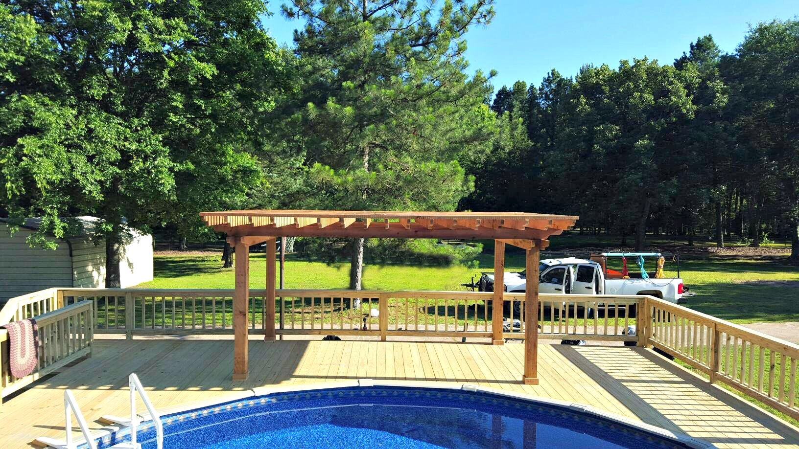 Pool Deck with Pergola