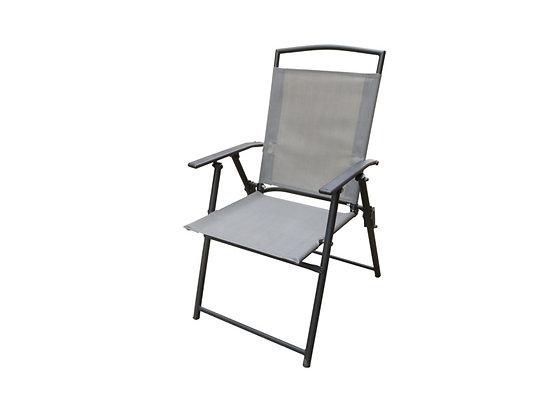 Seasonal Trends Folding Arm Chair, Grey