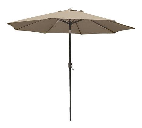 Seasonal Trends Crank Umbrella, 9' W, Taupe