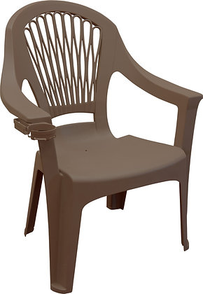 ADAMS Big Easy High-Back Chair, Earth Brown