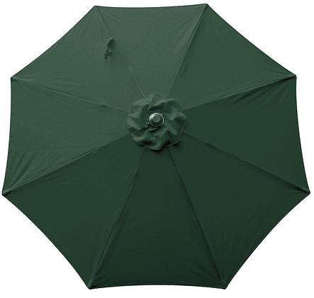 Seasonal Trends Market Umbrella, Evergreen, 9 ft