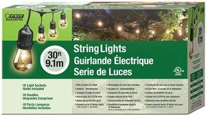 Feit Electric String Light Set, 15-Lamp, Lamp, 30 ft L