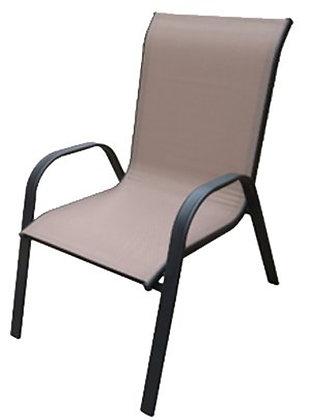 Seasonal Trends Sling Stack Chair 2 tone Tan