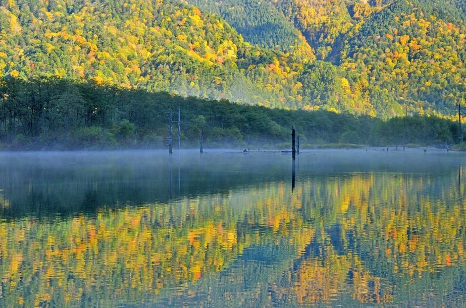 初秋の大正池