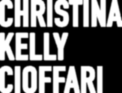 ChristinaKellyCioffari_Logo_stacked_Whit