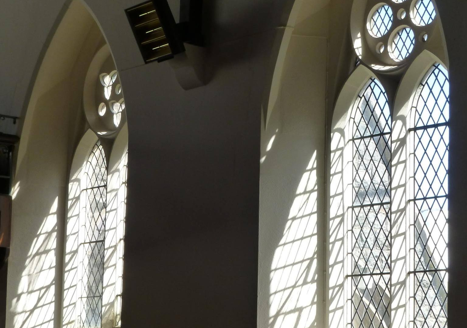 church windows, st columba's Jersey