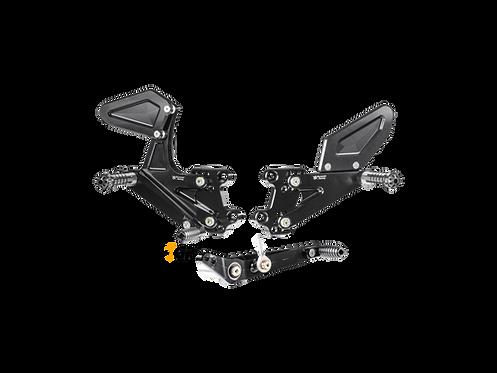 Footrest system from Bonamici for Honda CBR 1000 RR (17-19) | H013