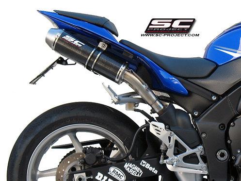 SC Project Paar GP-EVO Slip-On aus Titan oder Carbon für Yamaha R1 (09-14)