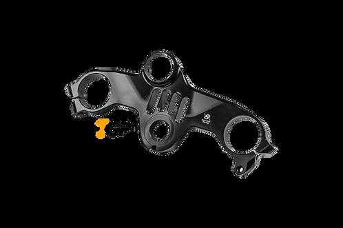 "Triple clamp ""S"" (TOP) by Bonamici Racing for Kawasaki ZX-10 R / RR (16-20)"