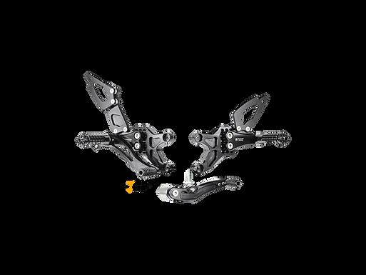 Fußrastenanlage von Bonamici für Honda CBR 600 RR (07-16) | H005/6