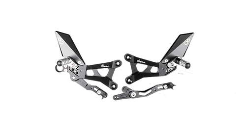 Footrest system by LighTech for Yamaha YZF-R6 (06-16) (with ABE)