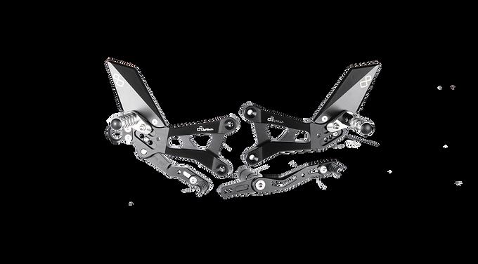 Fußrastenanlage von LighTech für Yamaha YZF-R6 (06-16) (mit ABE)