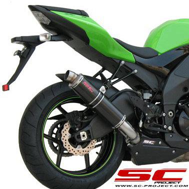SC Project GP Slip-On aus Carbon oder Titan für Kawasaki ZX-10R (08-10)