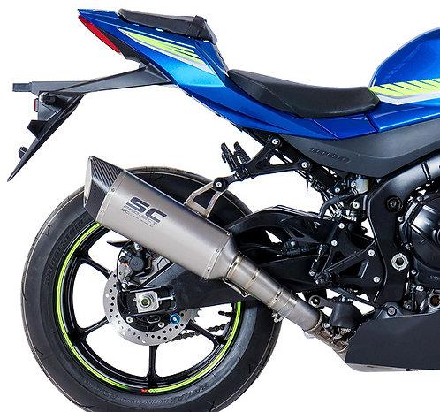 SC Project SC1-R Slip-On aus Titan oder Carbon für Suzuki GSX-R 1000 (17-20)