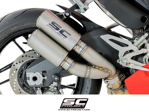 SC Project Twin CR-T Slip-On aus Titan für Ducati Panigale 959 (16-19)