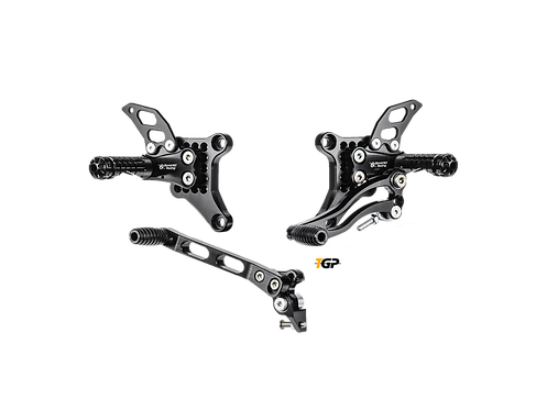 Footrest system from Bonamici Racing for Ducati 848 / EVO (08-11) | D1098