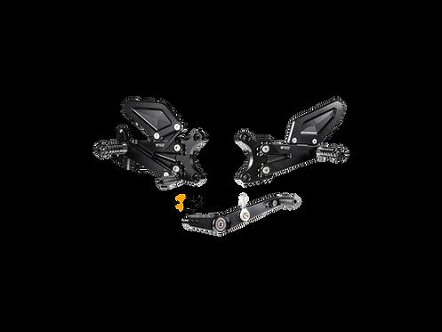 Footrest system from Bonamici for Yamaha YZF-R6 (17-20) | Y013