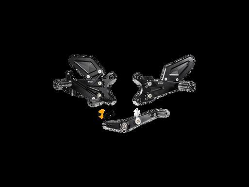 Fußrastenanlage von Bonamici für Yamaha YZF-R6 (17-20) | Y013