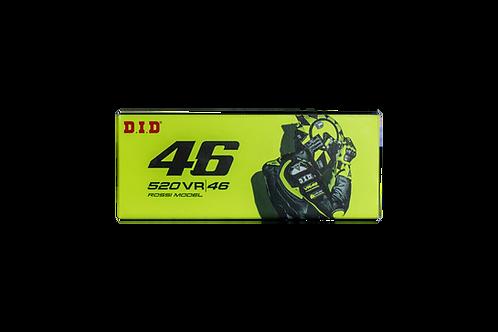 D.I.D VR46 chain X-RING S&G 520 or 525 open with rivet lock