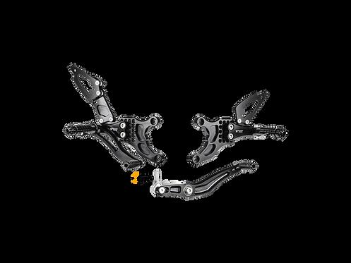 Fußrastenanlage von Bonamici für Yamaha YZF-R1 (09-14) | Y007