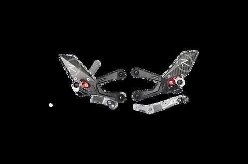 """Fußrastenanlage """"R"""" von LighTech für Yamaha YZF-R1/R1M (15-21) (mit ABE)"""