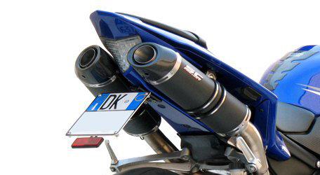 SC Project Paar Oval Slip-On aus Carbon oder Titan für Yamaha R1 (09-14)