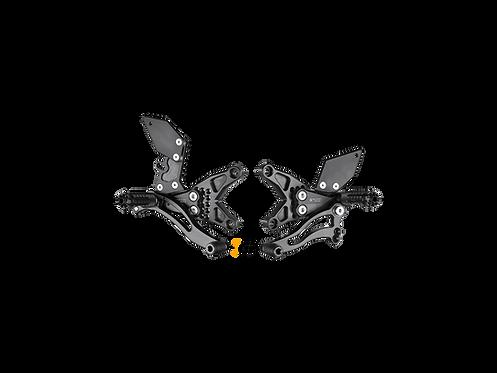 Footrest system from Bonamici for Kawasaki ZX-10 R (11-15)   K012