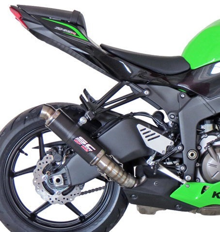 SC Project GP-M2 Slip-On aus Carbon für Kawasaki ZX-6R 636 (13-17)
