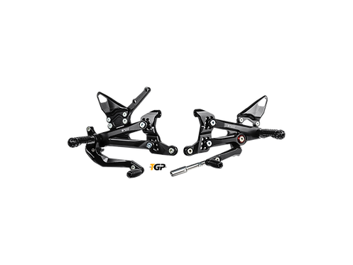 Footrest system from Bonamici Racing for Ducati Panigale V4 S Corse / Speciale