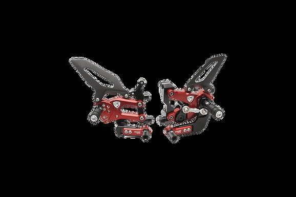 """Fußrastenanlage """"WSBK EVO GP"""" von CNC Racing für Ducati Panigale 959 (16-19)"""