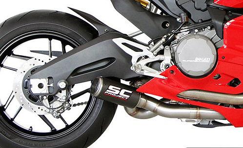 SC Project CR-T Slip-On aus Titan oder Carbon für Ducati Panigale 899 (13-15)