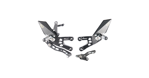 Footrest system by LighTech for Honda CBR 600 RR (07-16) (with ABE)