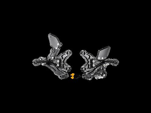 Footrest system from Bonamici for Kawasaki ZX-10 R / RR (16-20) | K015