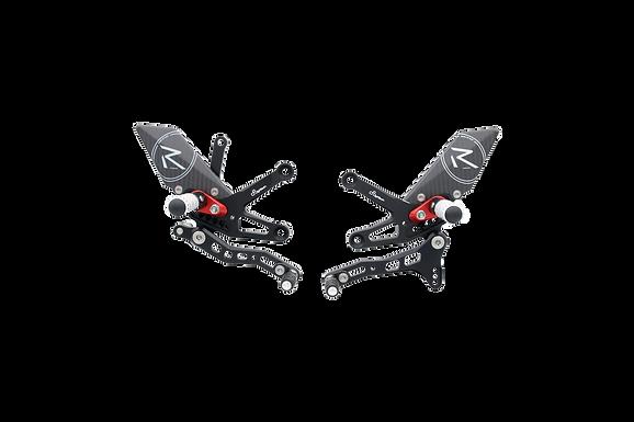 """Fußrastenanlage """"R"""" von LighTech für Kawasaki ZX-10R/RR (16-20) (mit ABE)"""